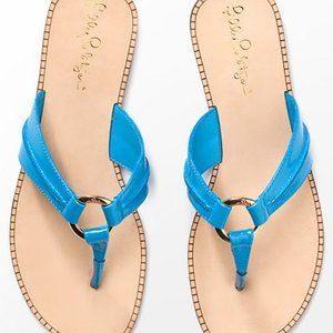 NEW Lilly Pulitzer McKim Sandal in Teal Blue 8M
